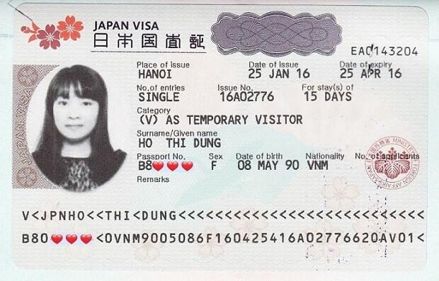 Visa du lịch Nhật